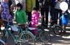 Выставка ретро-трамваев и велосипедов.