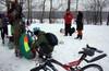 Постновогодняя CRAZY-PARTY на МБТрассе, снежки и катание с горы на всём подряд