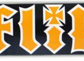 Скейт Flip HKD Black/ Orange