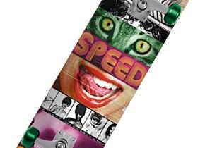 Скейт Speed Demons Face Smash Lady Cat
